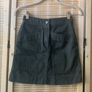 Anna glover x H&M green denim mini skirt size 2